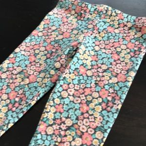 Carters Pastel Multicolor Floral Girls Leggings 4T